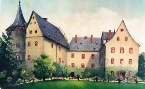 Postkarte von 1911 mit dem Schloss
