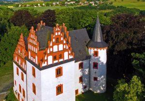 Luftaufnahme des heutigen Schlosses